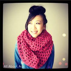 Long Double Crochet Cowl @ http://allaboutami.tumblr.com/post/40104047433/longdoublecrochetcowl#