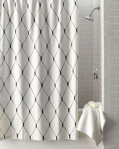 Linea Graphic Diamond Shower Curtain By Legacy Home At Horchow