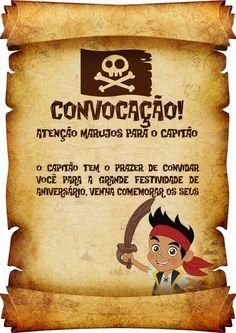 Convite Pergaminho Jake e os Piratas da Terra do Nunca 1 Pirate Theme, Pirate Party, 5th Birthday, Birthday Party Themes, Ideas Para Fiestas, Peter Pan, Pirates, Origami, Terra