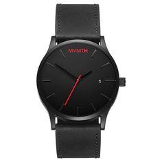 Black / Black Leather – MVMT Watches