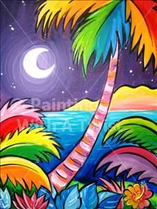 Colors of the Caribbean - Flower Mound Painting Class - Painting with a Twist - Painting with a Twist