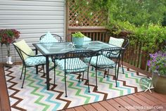 indoor/outdoor Mohawk Rug.  My chevron rug is called Herringbone Ginko. - Chevron Rug