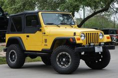 2002 Solar Yellow Jeep Wrangler $14995