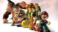 Donkey Kong, Pit, Wario, Samus Aran, Link, Kirby and Mario - Nintendo characters - Super Smash Bros. Brawl - Super Smash Bros. games - Nintendo, Konami and SEGA