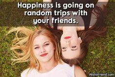 Happiness is going on random