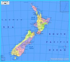 nice Map of New Zealand