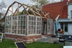 bygga orangeri,fönster,vinterträdgård,orangeri