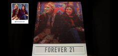 Forever 21 crée un panneau qui diffuse vos photos Instagram avec 6400 bobines de fil