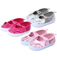 Cheap 1 par 0   12 M recién nacido muchachas de los cabritos brillante lentejuelas Bowknot suave único primeros caminante zapatos, Compro Calidad Primeros Pasos directamente de los surtidores de China:         Nuevas muchachas del algodón niños zapatos del pesebre Soft Shoes Sneakers primeros zapatos rosa               1
