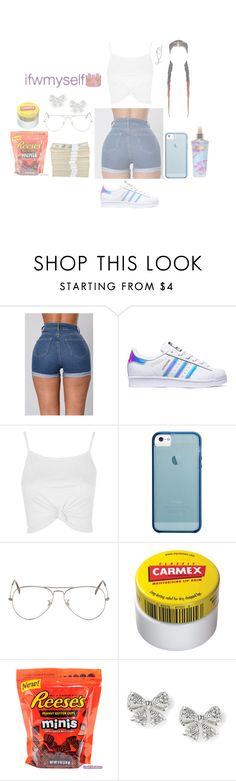 """""""IFWMSELF"""" by curlss-wavyy-sexy on Polyvore featuring adidas, Topshop, Ray-Ban, Carmex and Victoria's Secret"""