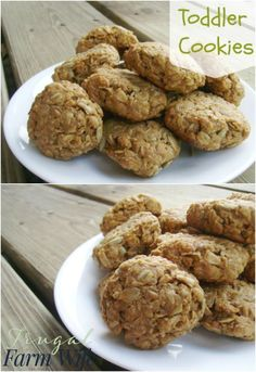 These toddler cookies are an easy, healthy snack for anybody! Only three ingredients.