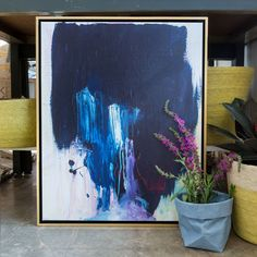 Extra large blue abstract painting, modern acrylic art, original abstract art, texture painting Blue Abstract Painting, Abstract Canvas Art, Large Painting, Painting Canvas, Acrylic Paintings, Palette, Letter Art, Types Of Art, Framed Art Prints