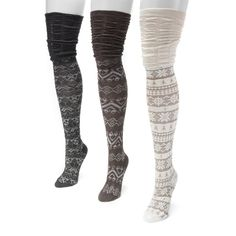 Diversify your sock choices when adding this three pack of women's multicolored…
