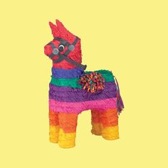 Bring fiesta fun to your party with a Rainbow Donkey Pinata! Rainbow Donkey Pinata features a traditional Mexican donkey pinata in rainbow stripes. Fiesta Games, Pinata Fillers, Fiestas Party, Pinata Party, Taco Party, Pony Horse, Birthday Party Games, Birthday Ideas, 9th Birthday