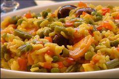 Paella vegetariana en Thermomix