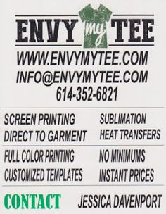 Envy My Tee News: How To Make A Custom T-shirt At Home  Screen Printing Blog and how to's  about t-shirts.  Learn how to create artwork for your screen printer, customizable products for gifts and more!   #Tshirts #Fashion #Shirts #ScreenPrinting #HeatTransferVinyl #CustomTshirt #sublimation #Gifts #Envymytee