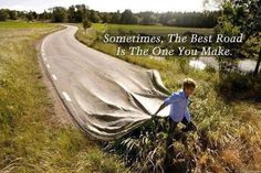 """Sometimes, the best road is the one you make."" #Inspiration #Success #Quote Young Drivers of Canada can help get you there https://www.yd.com"