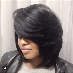 Are You About That Bob Life❓ Our Virgin Hair Extensions Is Not Just For Long Hair🙌 Achieve This Amazing Look With Our Brazilian Straight… Weave Hairstyles, Pretty Hairstyles, Straight Hairstyles, Black Hairstyles, Fashion Hairstyles, Love Hair, Gorgeous Hair, Short Hair Cuts, Short Hair Styles