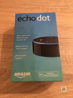 Die handliche Verpackung ... Amazon Echo, Gadgets, Dots, Language, Packaging, Stitches, The Dot, Gadget, Polka Dots