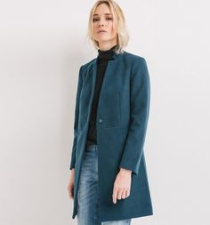 Cappotto+dritto  Stylish streamlined slash pockets coat by Promod Boutique Francaise art. 1-5-24-00-32-819