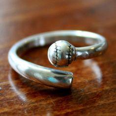 Sterling silver softball baseball ring | K&S Impressions
