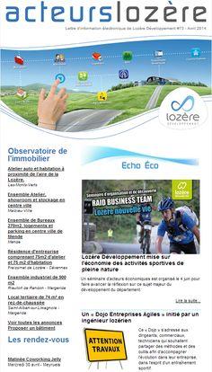 La nouvelle lettre d'information de Lozère Développement  est en ligne !!!