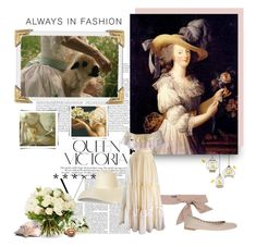 """""""Always in fashion"""" by aroa-hime ❤ liked on Polyvore featuring Nina Campbell, Jil Sander Navy, Therapy, Chloé, Victoria Beckham, vintage, whimsical, VintageInspired, whitedress and whimsy"""