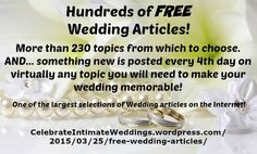 Wedding Articles Index Free Wedding, Wedding Blog, How To Memorize Things, Things To Sell, Something New, News Articles, Grooms, Brides, Wordpress