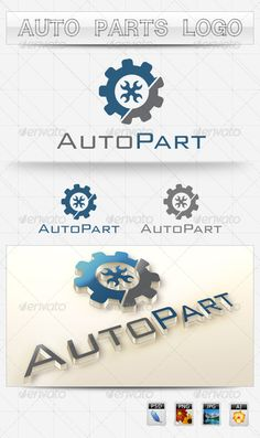 Auto Parts Logo  #GraphicRiver         Suitable logo design for Auto Parts, motorcycle, bike parts sellers, manufacturers. Clean and corporate logo design, easy customizable text and colours, resizeable PSD, Ai Vector files included. Jpeg and PNG previews also included. Free font used you can download here:  .911fonts /font/download_BankGothicLtBTLight_1533.htm