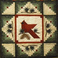 Winter's Majesty Kit Patchwork Plus Log Cabin Quilt Pattern, Log Cabin Quilts, Barn Quilts, Small Quilts, Mini Quilts, Vogel Quilt, Bird Quilt Blocks, Block Quilt, Quilt Kits