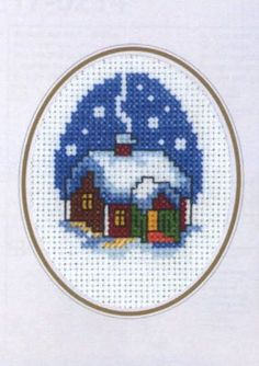 It's Warmer Inside Card Cross Stitch Kit | sewandso