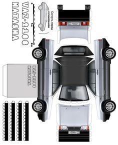 Paper cars, how to make (model, templates, origami, race auto) Paper Model Car, Paper Car, Paper Models, Daihatsu Terios, Most Popular Cars, Fiat 600, Mitsubishi Pajero, Benz E Class, Mitsubishi Outlander