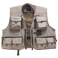 Crystal River Deluxe Fishing Vest, Size: Large, Beige