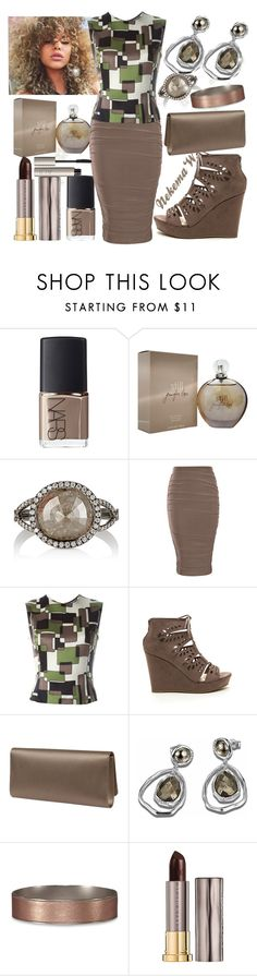"""""""Monday Work Wear """" by sexyshonda ❤ liked on Polyvore featuring NARS Cosmetics, Jennifer Lopez, Monique Péan, Jean-Louis Scherrer, Valentino, Abercrombie & Fitch, Urban Decay and Ilia"""