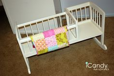 icandy handmade: (iCandy) My Dolly Cradle - this is such a great idea for a doll cradle and rocker