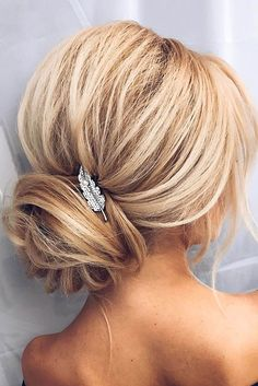 Bridesmaid Updos And#8211; Elegant And Chic Hairstyles ❤️ See more: http://www.weddingforward.com/bridesmaid-updos/ #weddings