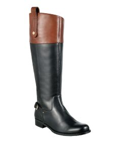 Black & Dark Cognac Leather Hamden Boot   why do cute boots rarely come in wide widths?