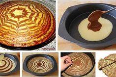 """ZEBRA"" homemade cakes with recipes photos Ingredients: - Eggs 5 pcs. Good Food, Yummy Food, Cake Decorating Tips, Sugar Rush, Homemade Cakes, Let Them Eat Cake, Food Photo, Bon Appetit, Bakery"