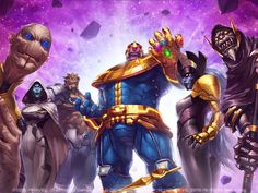 Thanos and Black Order Poster Marvel Contest of Champions Wallpaper, HD Games Wallpapers, Images, Photos and Background Thanos Marvel, Ms Marvel, Marvel Dc Comics, Captain Marvel, Storm Marvel, Heros Comics, Marvel Heroes, Epic Heroes, Deadpool Wolverine