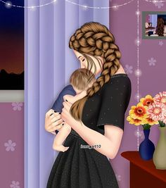 and baby anime 15 Ideas baby girl anime daughters 15 Ideen Baby Mädchen Anime Töchter Mother Daughter Art, Mother Art, Mother And Child, Sarra Art, Beautiful Girl Drawing, Girly M, Cute Couple Art, Girly Drawings, Baby Drawing