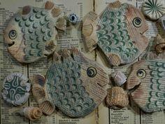 Mobile Windspiel Keramik Fische - Basteln, Bausatz 1334
