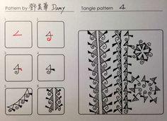 4 tangle pattern  by Damy