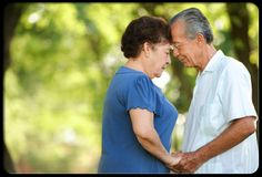 A senior couple in love. As we age we have difficulty maintaining a healthy, active intimate relationship