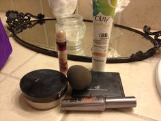 easy makeup routine maybelline olay ELF beauty blender Benefit