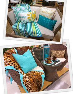 Beach towels for throws for the perfect outdoor decor!