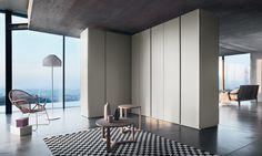 Design Kleiderschrank mit Grifflosem Design - Armadio bifacciale Sinua