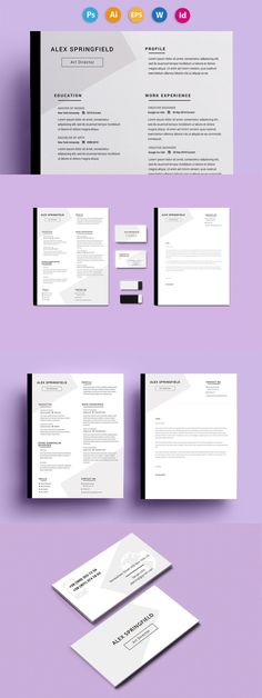 Resume template for MS Word Cv template - Resume Templates Website