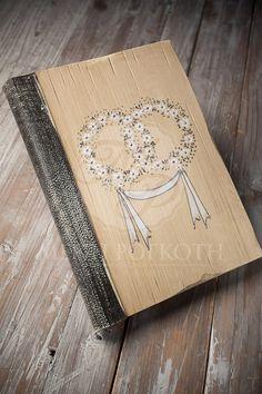 Ευχολόγιο γάμου ξύλινο ζωγραφισμένο