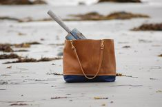 9e5b4a6fe Navy Waxed Canvas and Leather Tote by MaineBagsandGoods on Etsy Day Bag,  Waxed Canvas,