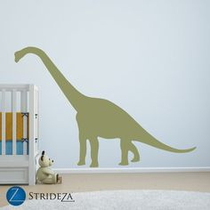 Dinosaur Wall Decal   Large Oversized Dinosaur Decal   Peeking Crib Wall  Decal   Brontosaurus, Brachiosaurus   Boy Nursery   CB151 | Maxu0027s Room |  Pinterest ...